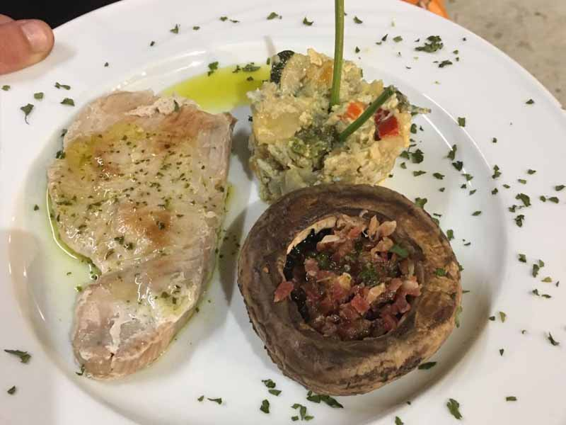 Champiñón relleno Catering Domingo Árias