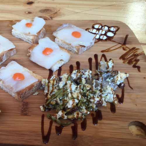 Bacalao y huevos Catering Domingo Árias