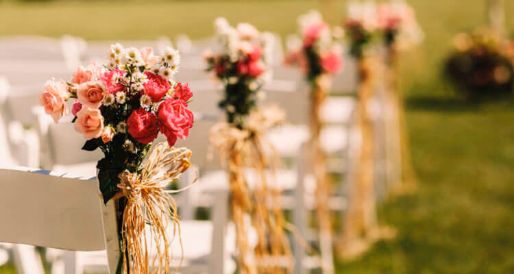 Flores banquetes de boda