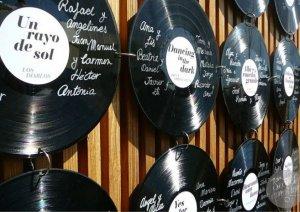 Seating Plan - Organización Mesas invitados - Discos de vinilo